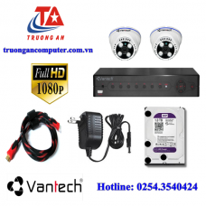 Bộ 02 Camera HD TVI VANTECH VP-114TP 1080P