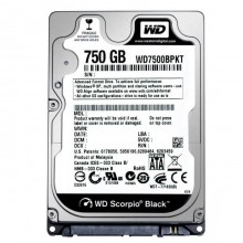 Ổ cứng HDD Notebook Western 750GB Sata - Black 2 nhân
